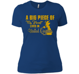A Big Piece Of My Heart Lives In United Kingdom T Shirts-New Wave Tee