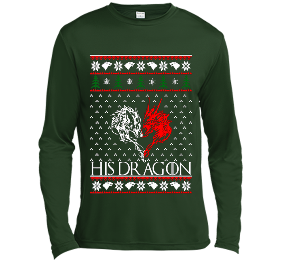 Christmas His Dragon T Shirts-New Wave Tee