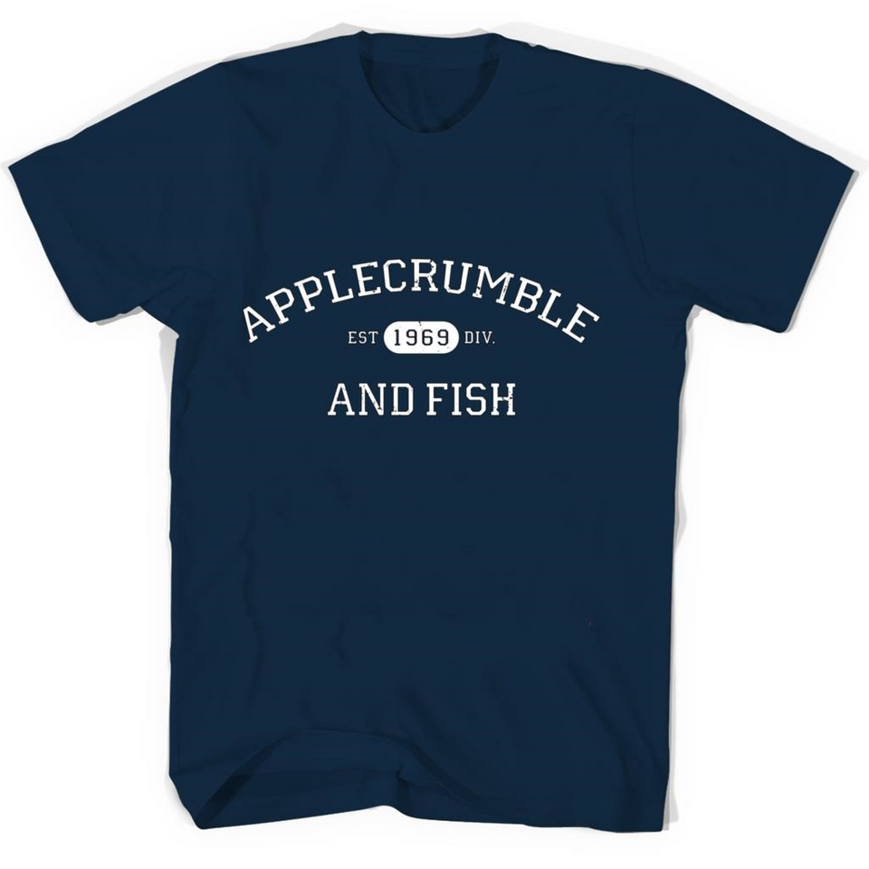Applecrumble and Fish tshirt-New Wave Tee