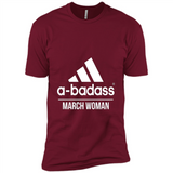A badass March Woman T Shirts-New Wave Tee