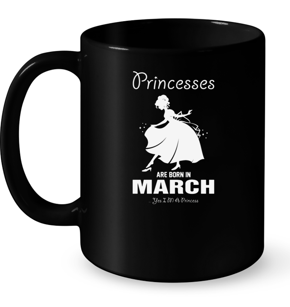 Princesses Are Born In March T Shirts-New Wave Tee