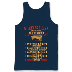 5 Things I Like Almost As Much As Marimbas 1 Looking At My Marimba T Shirts-New Wave Tee