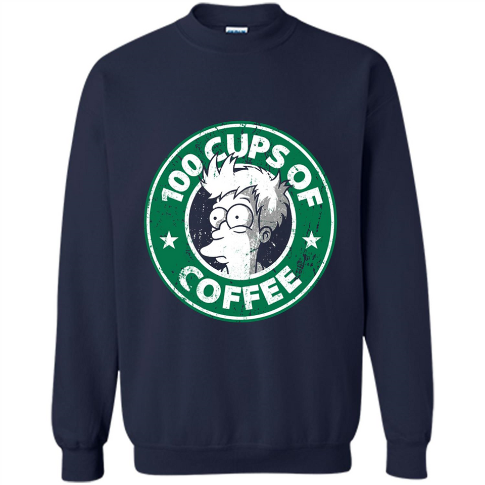 100 Cups Of Coffee T Shirt-New Wave Tee