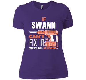 If Swann Can't Fix It We're All Screwed T Shirts-New Wave Tee