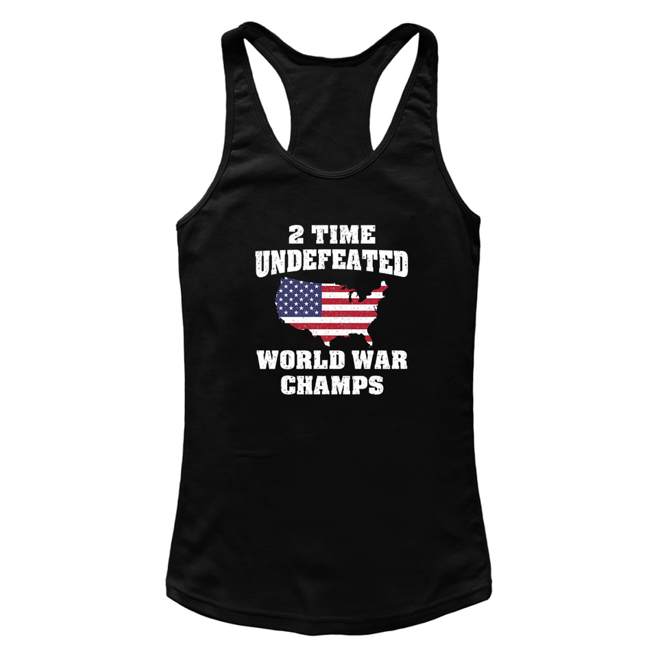 2 Time Undefeated World War Champs T Shirts-New Wave Tee