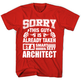 Architec For Boy Friend Or Husband Architect Couple Valentine T Shirts-New Wave Tee