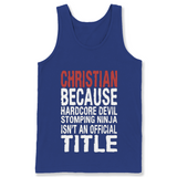 Christian Because Hardcore Devil Stomping Ninja T Shirts-New Wave Tee