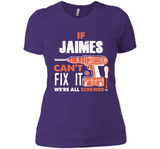 If Jaimes Can't Fix It We're All Screwed T Shirts-New Wave Tee