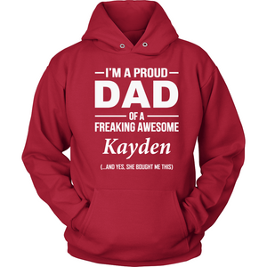 I'm A Pround DAD Of A Freaking Awesome Kayden T Shirts-New Wave Tee