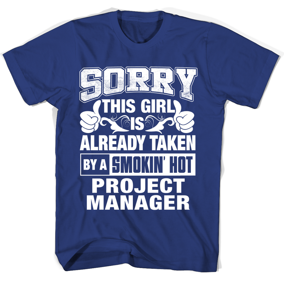 Project Manager For Boy Friend Or Husband Project Manager Couple Valentine T Shirts-New Wave Tee