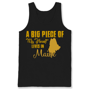 A Big Piece Of My Heart Lives In Maine T Shirts-New Wave Tee
