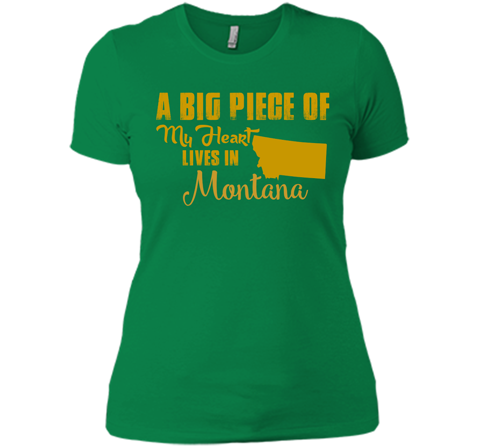 A Big Piece Of My Heart Lives In Montana T Shirts-New Wave Tee