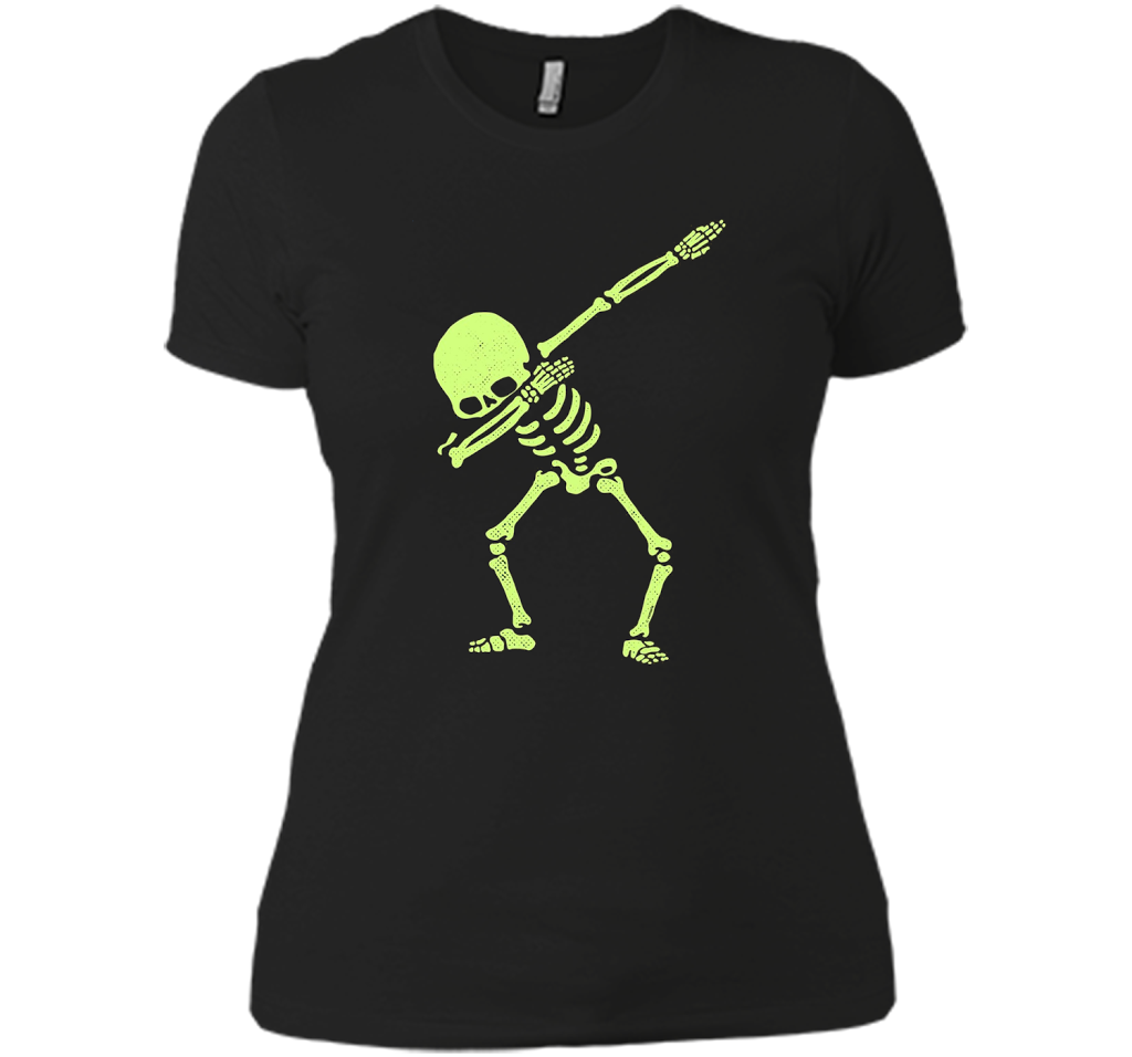 168d7e81 Dabbing Skeleton Shirt Dab Hip Hop Skull Dabbin Glow Effect – New Wave Tee