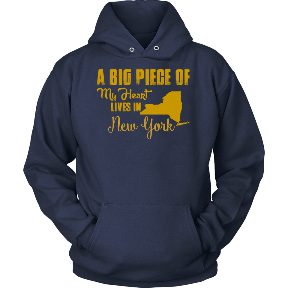 A Big Piece Of My Heart Lives In New York T Shirts-New Wave Tee