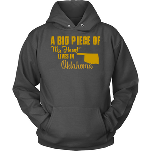 A Big Piece Of My Heart Lives In Oklahoma T Shirts-New Wave Tee
