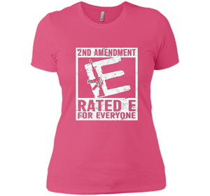 2nd Amendment Ratede For Everyone 1 T Shirts-New Wave Tee