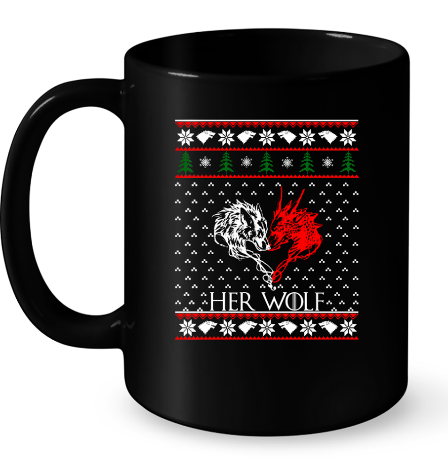 Christmas Her Wolf T Shirts-New Wave Tee