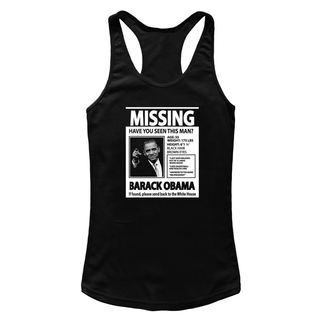 a1486ae29ed01 Missing Have You Seen This Man Barack Obama T Shirts – New Wave Tee