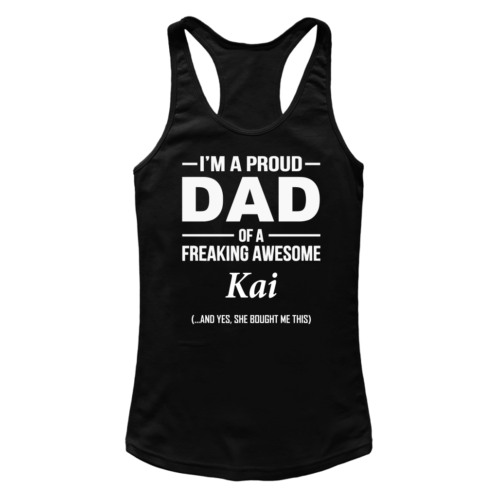 I'm A Pround DAD Of A Freaking Awesome Kai T Shirts-New Wave Tee