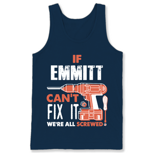If Emmitt Can't Fix It We're All Screwed T Shirts-New Wave Tee