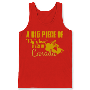 A Big Piece Of My Heart Lives In Canada T Shirts-New Wave Tee