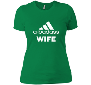 A badass Wife T Shirts-New Wave Tee