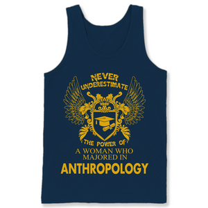 Anthropology The Power Of Woman Majored In Anthropology T Shirts-New Wave Tee