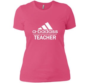 A badass Teacher T Shirts-New Wave Tee