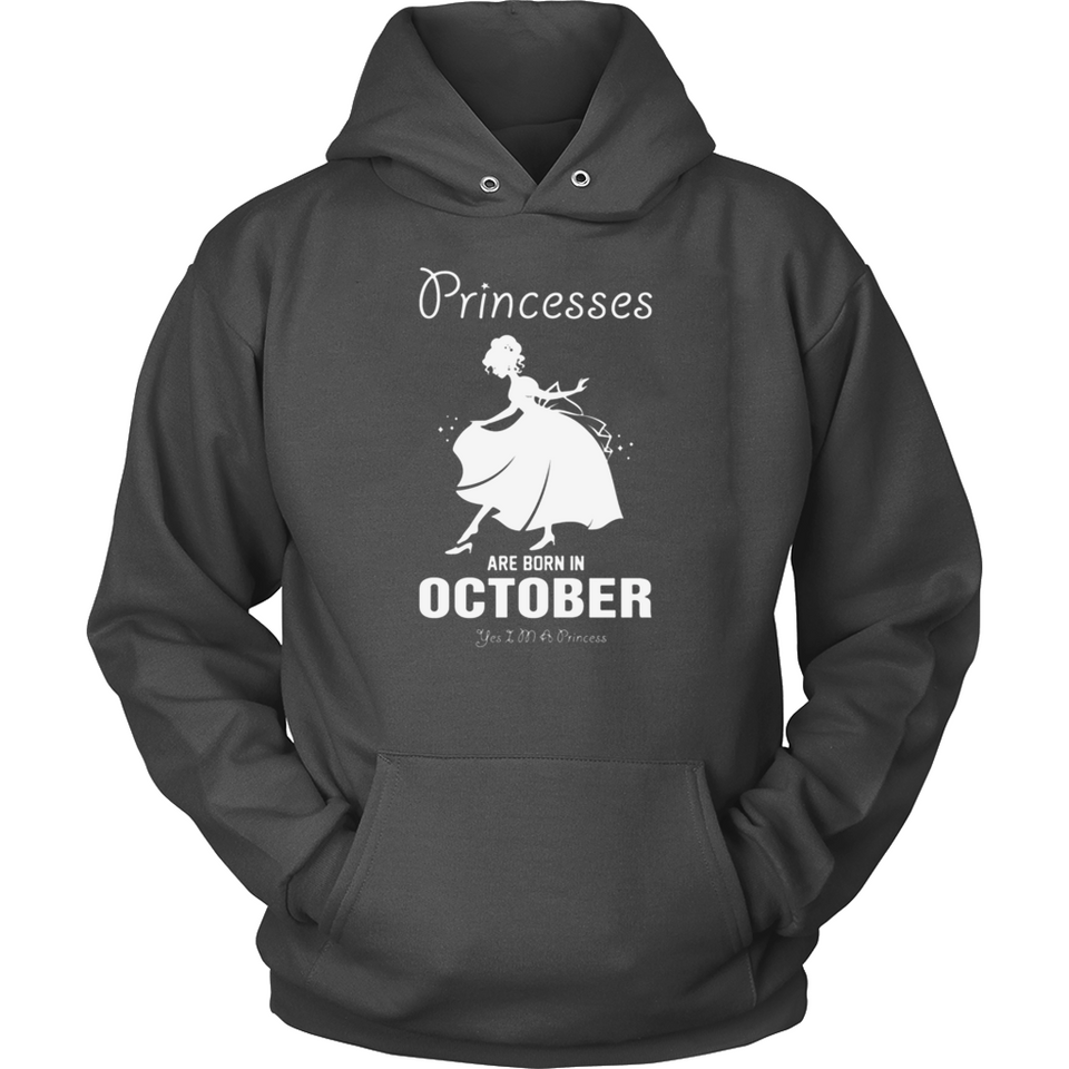 Princesses Are Born In October T Shirts-New Wave Tee