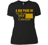 A Big Piece Of My Heart Lives In Colorado T Shirts-New Wave Tee