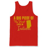 A Big Piece Of My Heart Lives In Indiana T Shirts-New Wave Tee