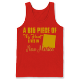 A Big Piece Of My Heart Lives In New Mexico T Shirts-New Wave Tee