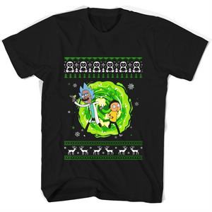 Rick and Morty Ugly Christmas T Shirts-New Wave Tee