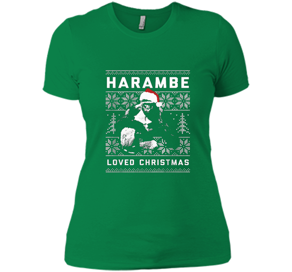 harambe loved christmas ugly sweater t shirts new wave tee