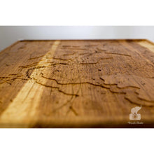 Ann Arbor Topography Wood Map | Ash - Blue Dot Maps