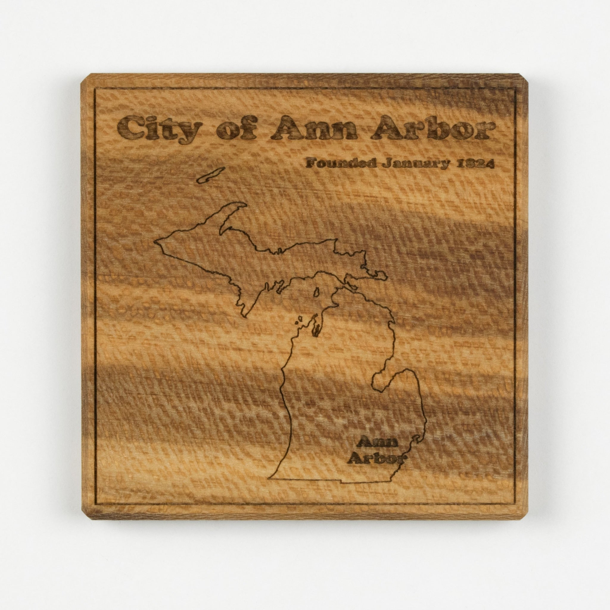Ann Arbor Coaster | Sycamore - Blue Dot Maps