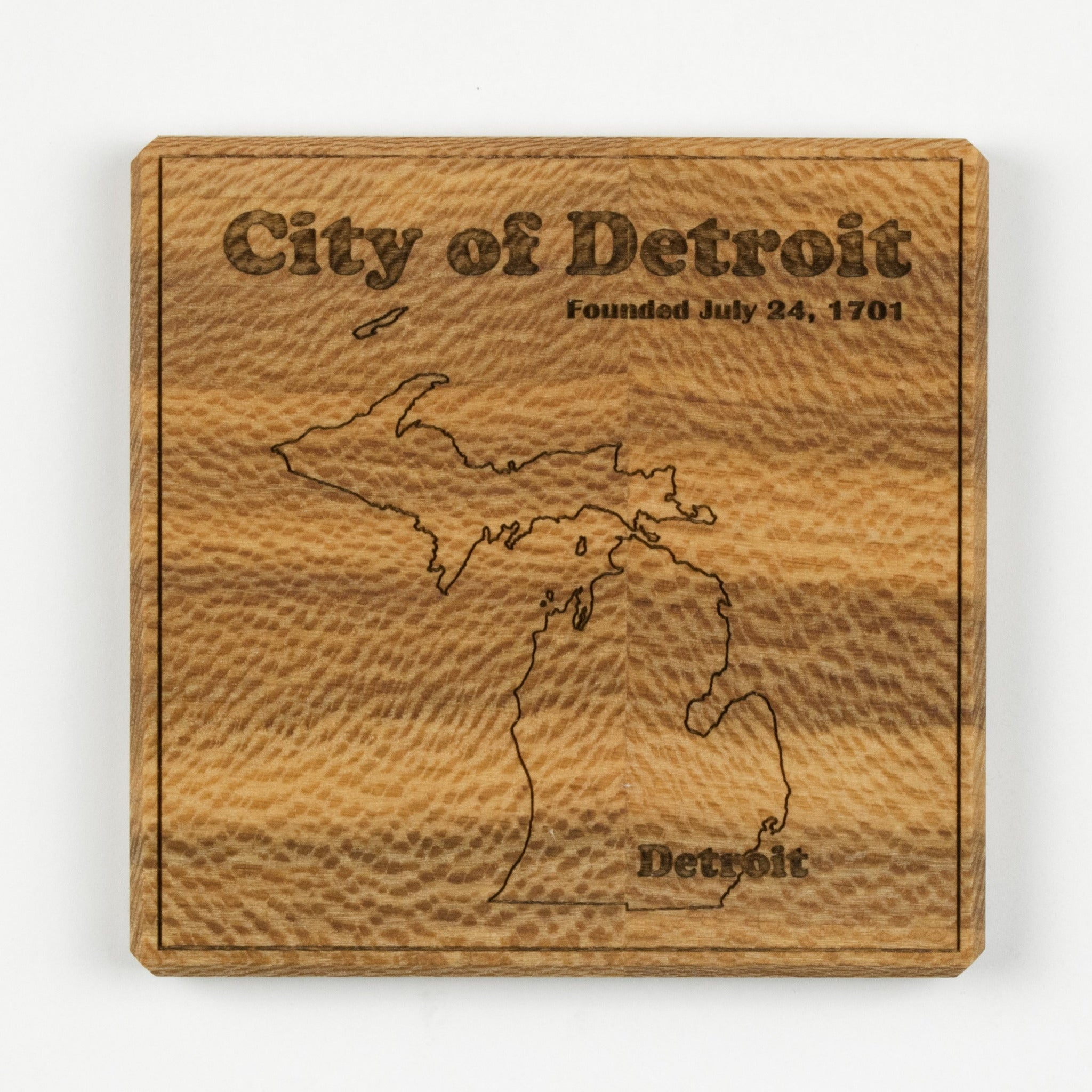Detroit Coaster | Sycamore - Blue Dot Maps