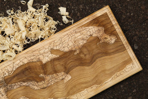 Grand Traverse Bay Wood Map | Flame Birch - Blue Dot Maps