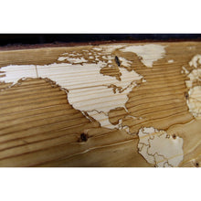 World Map | Live Edge Spruce - Blue Dot Maps