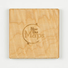 Ann Arbor Coaster | Curly Maple - Blue Dot Maps