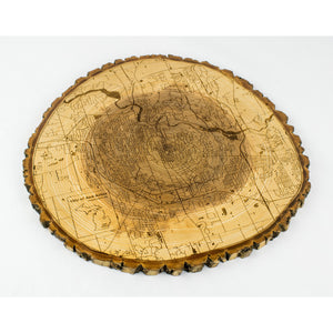 Live Edge Round Ann Arbor | Ash - Blue Dot Maps