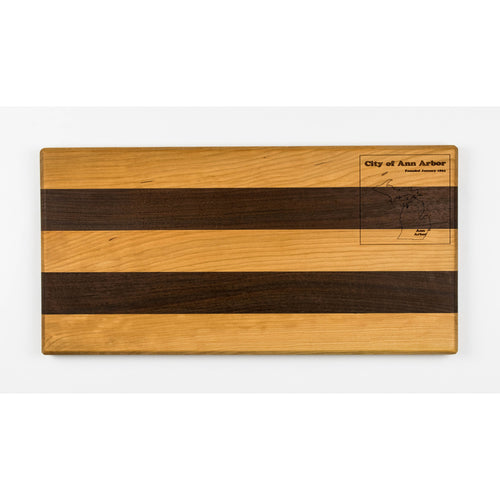 Ann Arbor Serving Tray | Walnut & Cherry - Blue Dot Maps