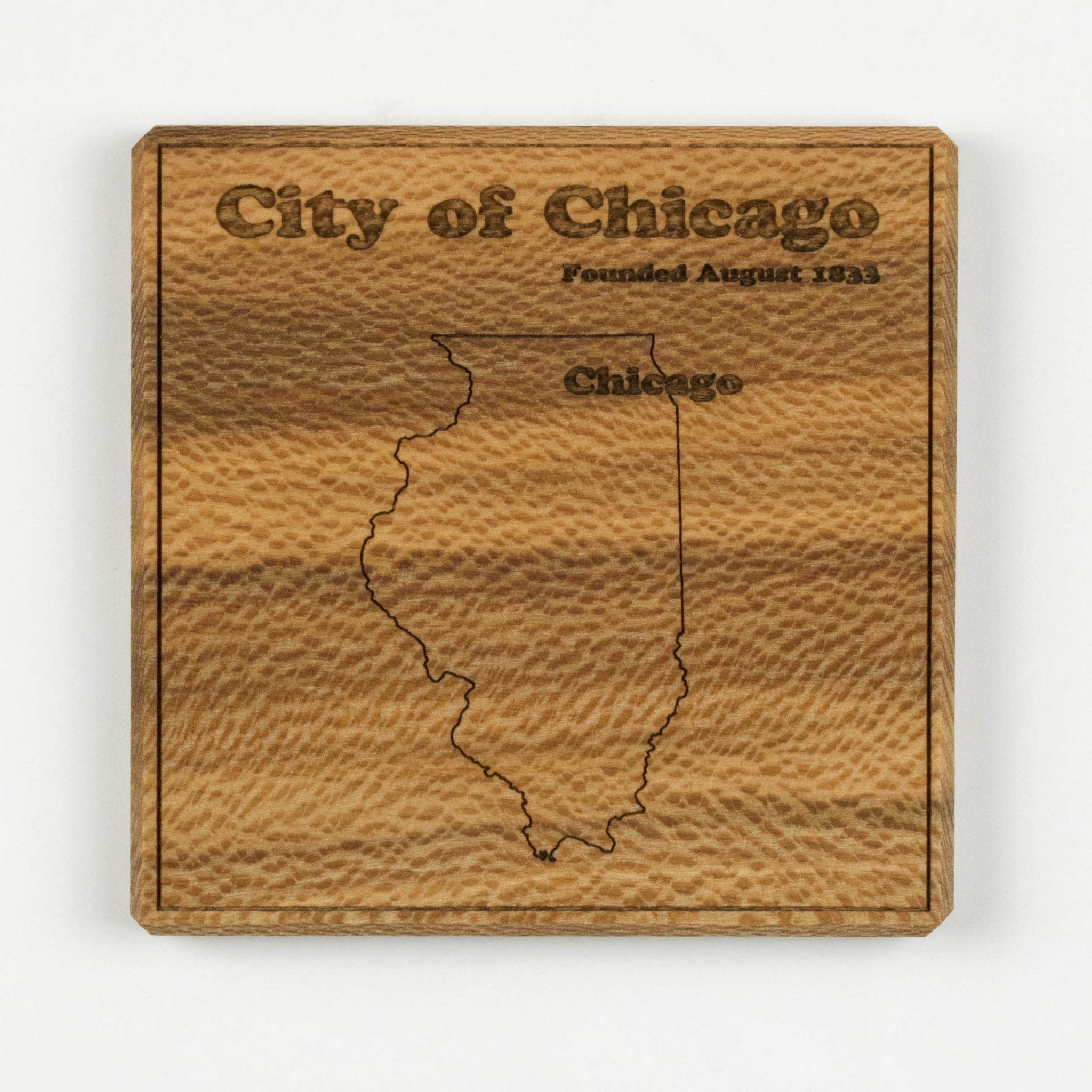 Chicago Coaster | Sycamore - Blue Dot Maps