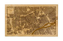 Detroit Wood Map | Flame Birch - Blue Dot Maps