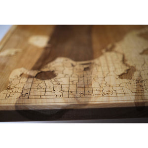 Leelanau Wood Map | Flame Birch - Blue Dot Maps
