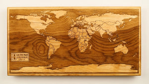 World Wood Map | Flame Birch - Blue Dot Maps