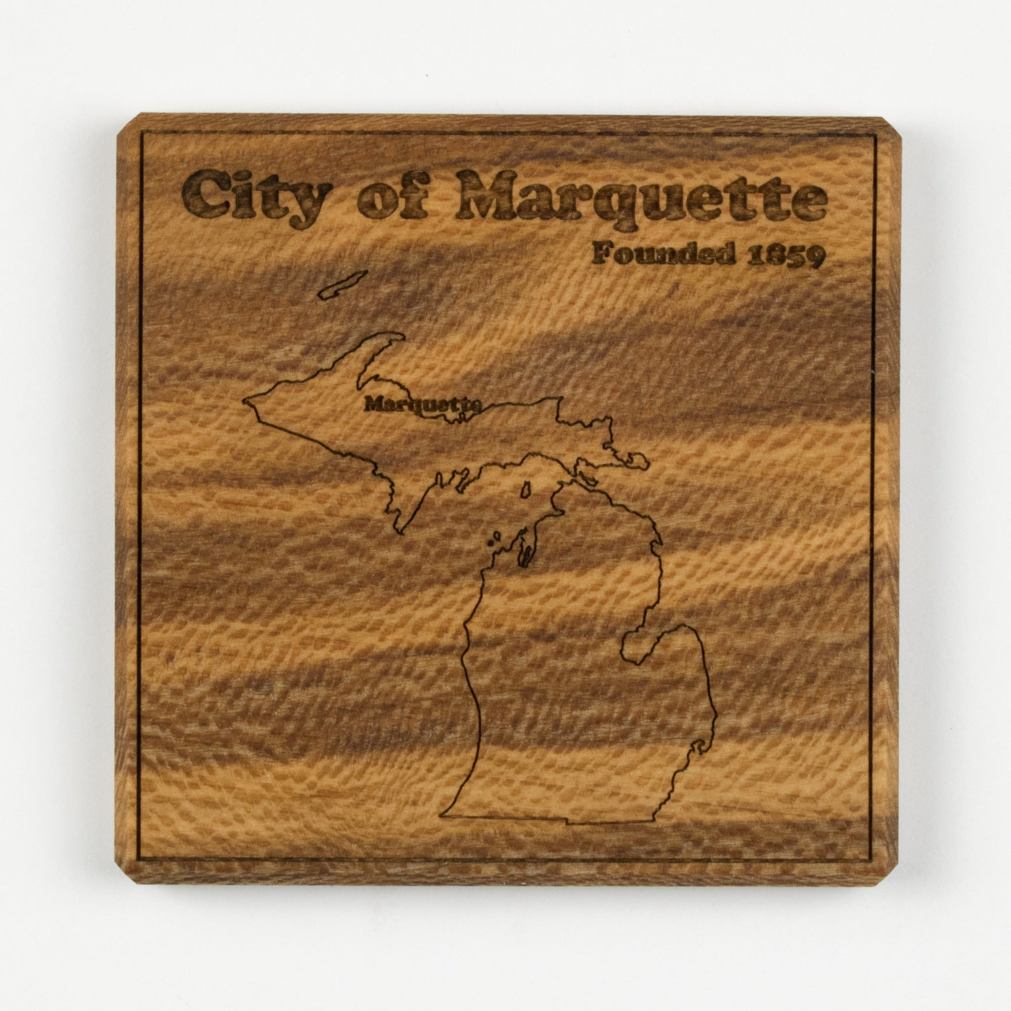 Marquette Coaster | Sycamore - Blue Dot Maps