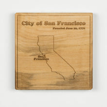 San Francisco Coaster | Soft Maple - Blue Dot Maps