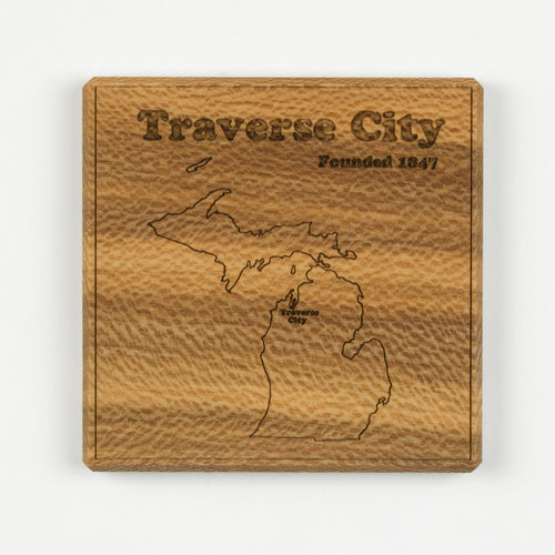 Traverse City Coaster | Sycamore - Blue Dot Maps