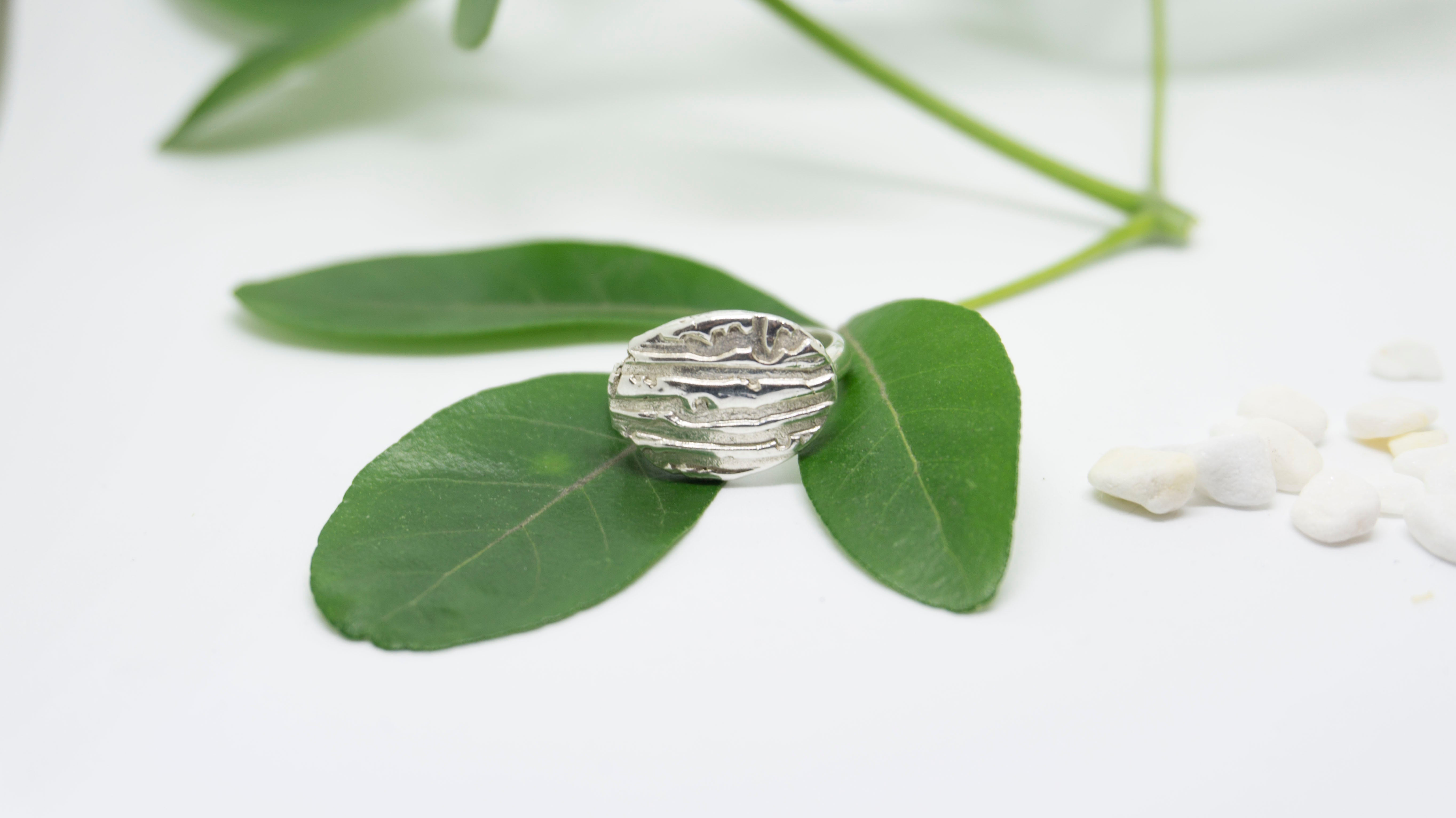 River Rock Statement Ring, sterling silver